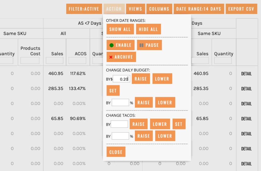 ManageByStats Advertising Manager Automatic Bid Adjustment